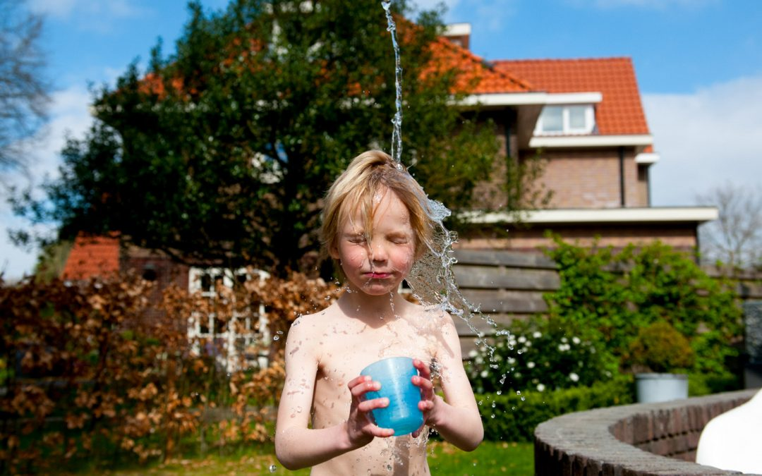 Familie fotograaf 't Gooi: Day in the life reportage met veel water!