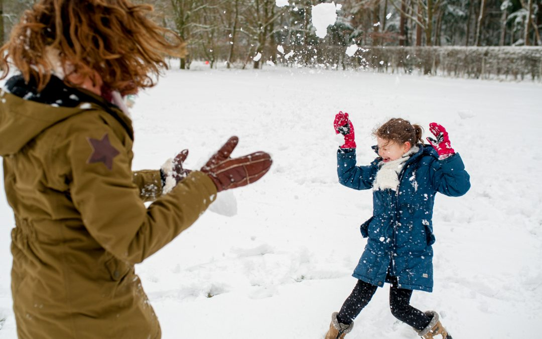 Gezinsfotoshoot 't Gooi: Day in the life reportage in de sneeuw!