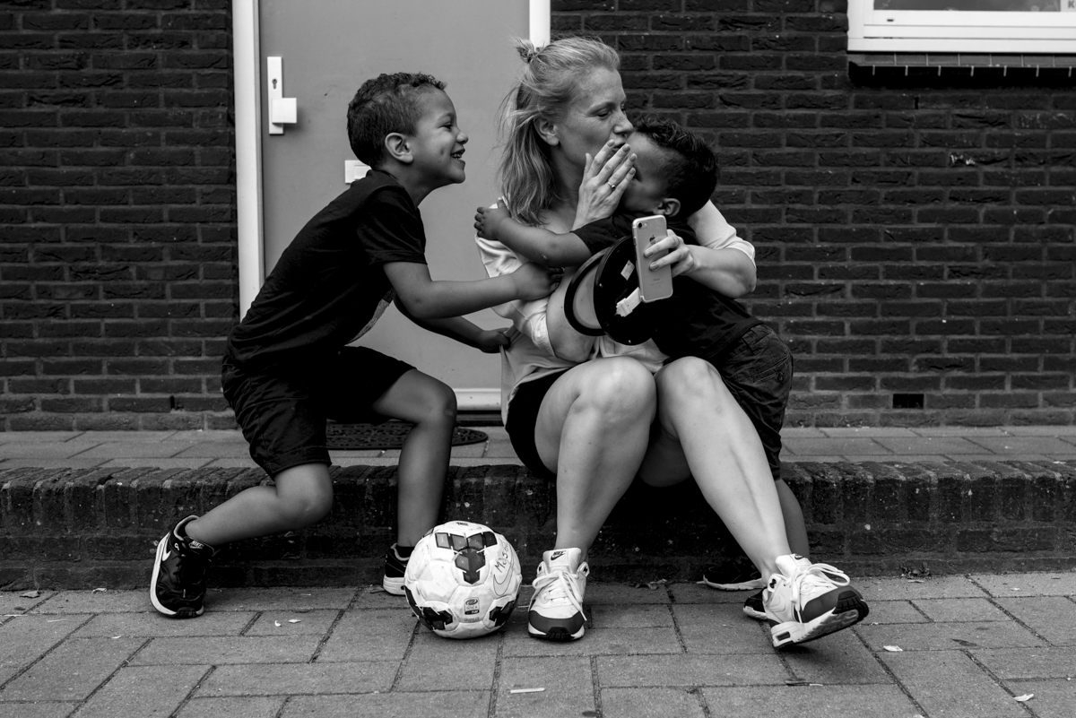 Spontane gezinsfoto's
