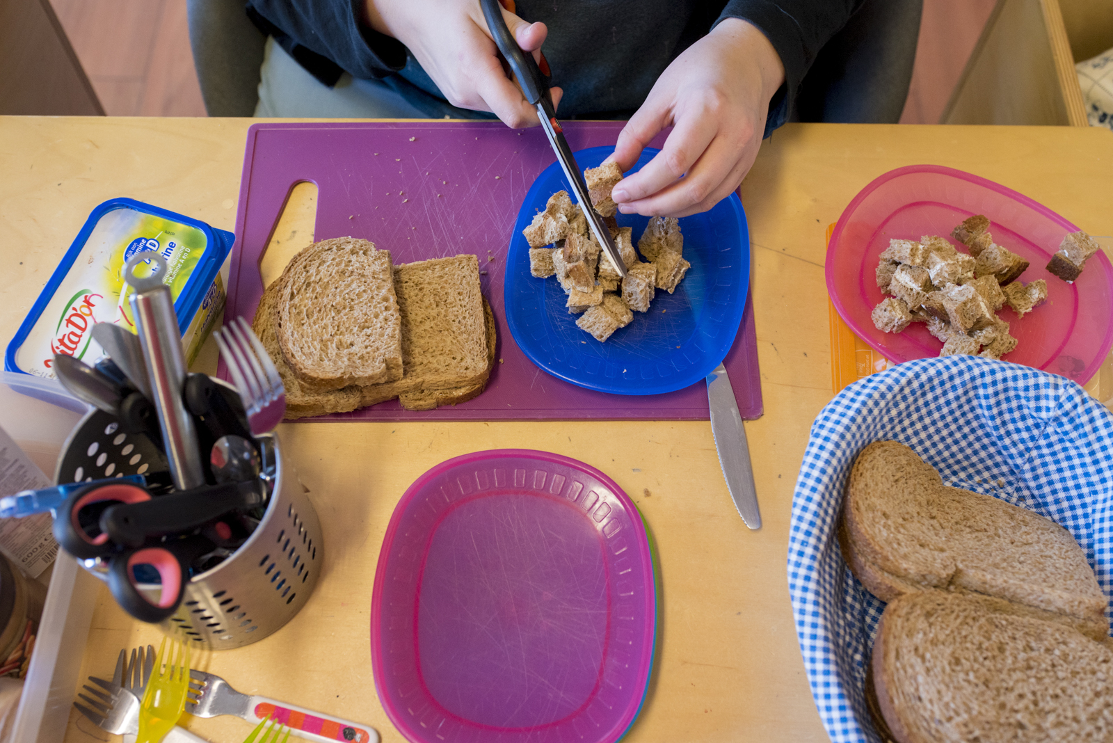 lunchen op een kinderdagverblijf