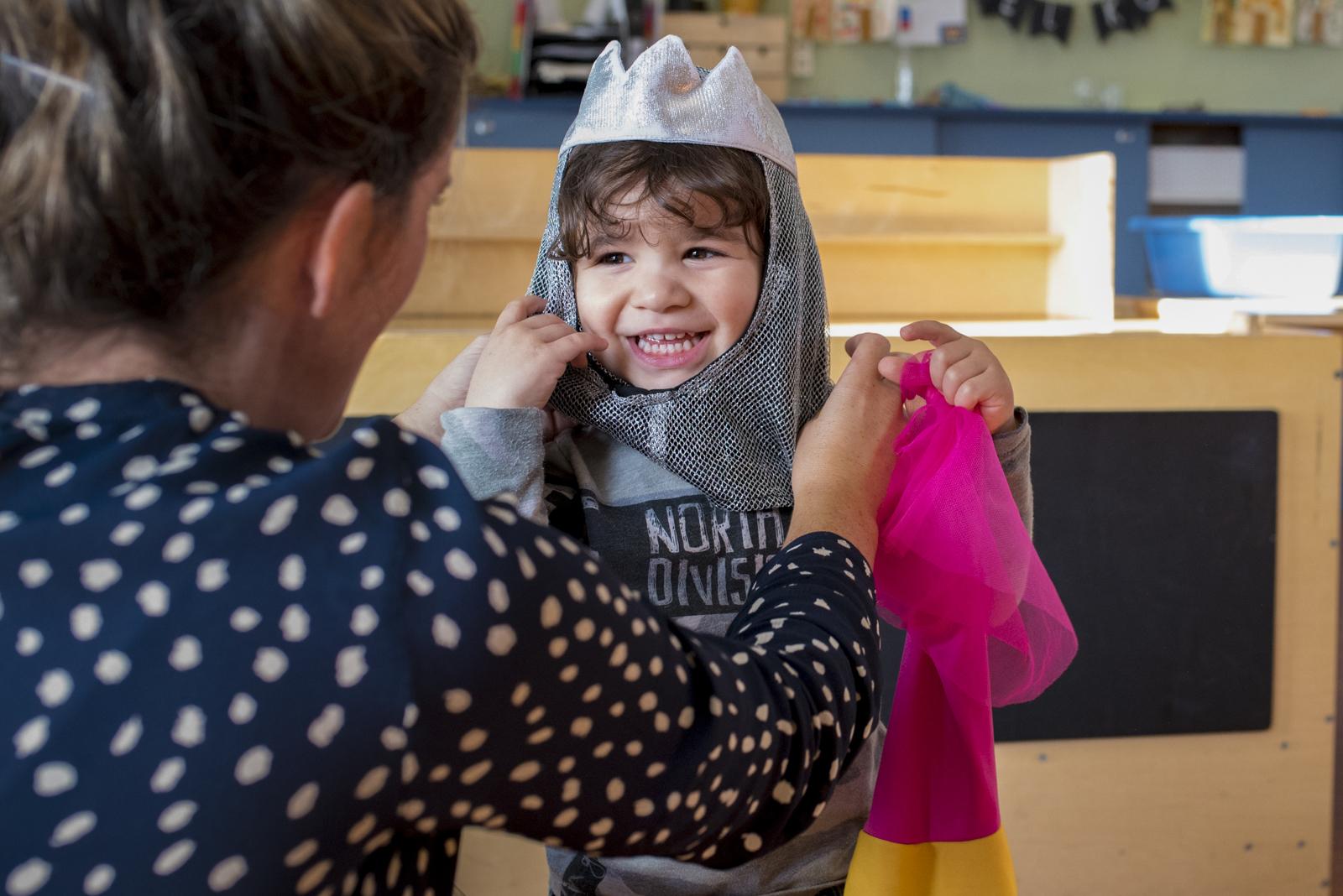 verkleden op een kinderdagverblijf