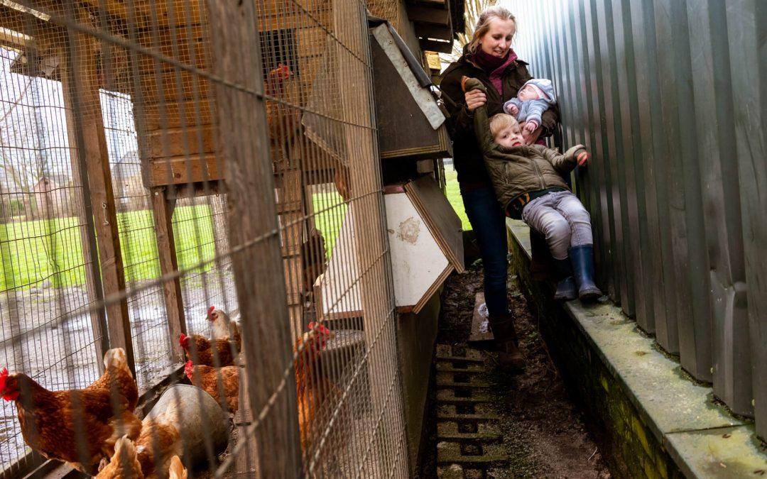 Gezinsfotoshoot in Soest op een zorgboerderij